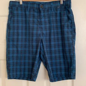Hurley With Nike Dri-Fit Mens Plaid Shorts Size 32